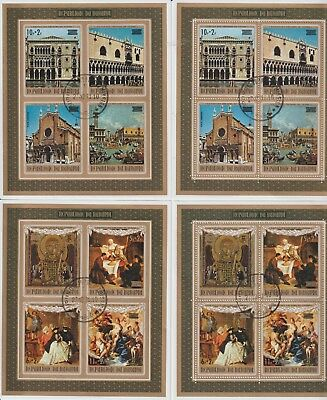 4 Mini Sheets Of Stamps  From Burundi 1971.