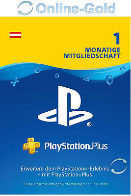 PSN Live Card Plus 30 Tage 1 Monat (Sony) Playstation Plus Key - NUR AT