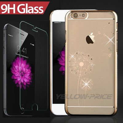 Diamond Crystal Clear Rapid Hard Shockproof Case Cover+Film For iPhone 6 6S Plus
