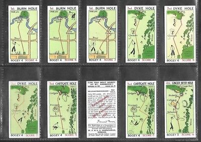 "Churchman 1934 ( Golf ) 54 Card Set """" Can You Beat Bogey At St. Andrews """""