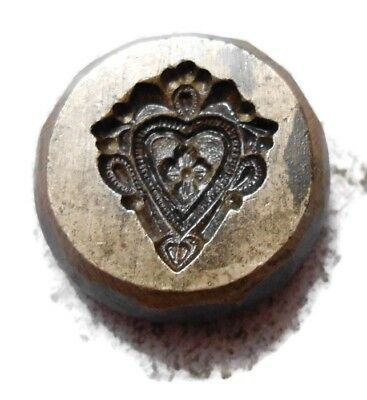 Vintage - India Hand Engraved - Jewelry Maker's - Beautiful  Die Mold - Decf4
