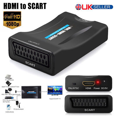HDMI MHL To Scart Converter Audio Video Adapter 1080P For STB HDTV Sky Box PSP
