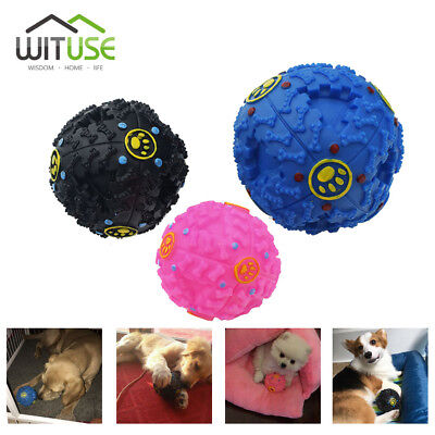 Pet Dog Giggle Ball Squeaky Sound Training Chew Toys Leaking Food Ball 3 Sizes 2