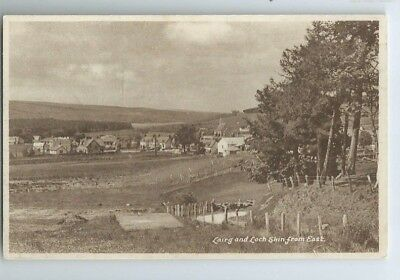 Postcard Lairg and Loch Shin Saval Sutherland Gruids