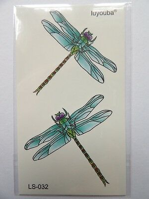 DRAGONFLY TEMPORARY TATTOOS (BRAND NEW) 110mm X 60mm LS032