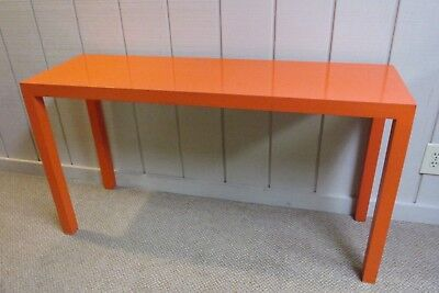 VINTAGE MID-CENTURY LANE Furniture 1972 ORANGE Formica ...