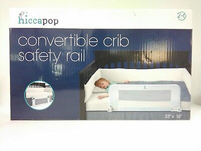 hiccapop convertible crib toddler bed rail guard reinforced anchor safey