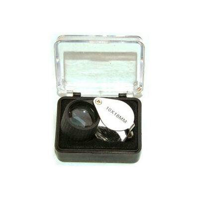 Rubber Field Hand Lens Magnifying Glass Magnifier Loupe Nature 10X Magnification