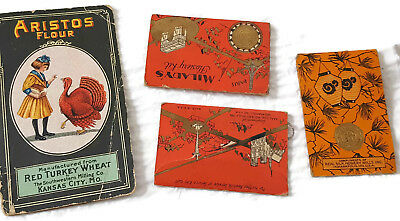 Lot of 4 Vintage Advertising Needle Books  - Estate Sewing Find - Aristos Flour