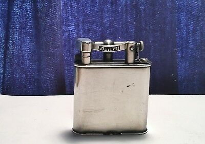 Antique 1925 Dunhill Unique Silver Lift Arm Lighter All Original And Beauty!