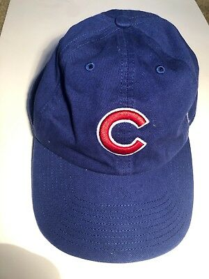 Chicago Cubs 47 Alternate Clean Up Adjustable On Field Blue Hat Cap  Champion MLB b03e2bbba