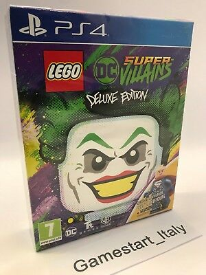 Lego Dc Super Villains Deluxe Edition - Sony Ps4 - Gioco Nuovo Sigillato New Pal