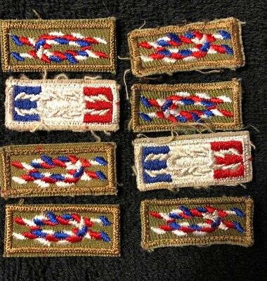 Lot Of Eight Eagle Scout Award  Rank Knot Patches Boy Scouts Of America