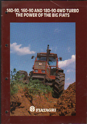 FIAT 140-90, 160-90 and 180-90 Tractor Brochure Leaflet