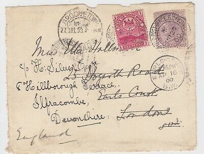 1900 Boer War Duel franked CGH QV 1d British Army Field Post Redirected FRONT