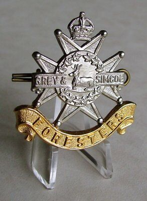 Canadian Army - Grey & Simcoe Foresters Cap Badge , Owen Sound - Ontario WWII