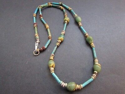 NILE  Ancient Egyptian Seed Amulet Mummy Bead Necklace ca 600 BC