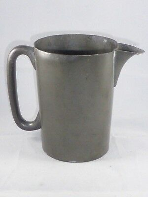 Great Antique Victorian Pewter Straight Sided Quart Jug