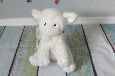 White Little Miracles Shaggy Lamb Sheep Plush Stuffed Baby Costco Woolly Toy 9""