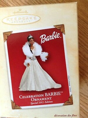 Hallmark Ornament 2003 Celebration Barbie Special African American - NEW