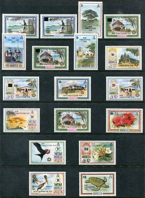 ANGUILLA 229 - 246 Beautifuil Mint NeverHinged Set NEW CONSTITUTION UPTOWN 46933