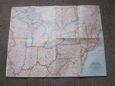 Northeastern United States  -  National Geographic Map . 1959