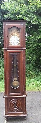 French Antique Tall Longcase Grandfather Comptoise Clock From Coutances Normandy