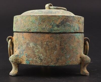 Republican Period Precious Chinese Bronze Wine Cup Old Buddhist Collection