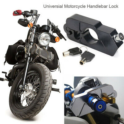 Security Motorcycle Handlebar Lock Brake Clutch Safety Theft with 2 Keys L2P0