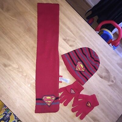 Boys Spidermsn Hat Gloves And Scarf Set 3-6 Years