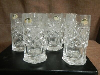 Vintage Set of 6,  8oz Highball Tumbler, Cristal Au Plomb,
