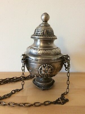 Antique Orthodox Russian 1812 Silver Incense Burner Moscow Vitaliev Yakov Ag 84