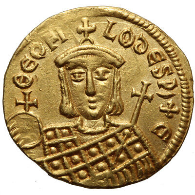 Byzantine Gold Coin Michael II, with Theophilus. A.D. 820-829. AV solidus . Cons