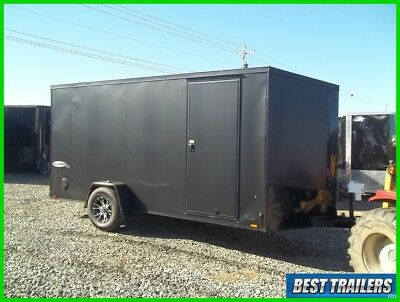tall 6 x 14 SE look cargo enclosed motorcycle trailer torsion axle 6x14 w brakes