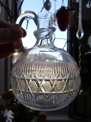 19thc  GUEST DECANTER  / WATER  JUG OVAL BODY  DESIGN