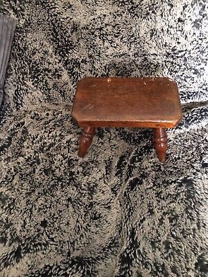 A Antique Childs Small Pegged Stool
