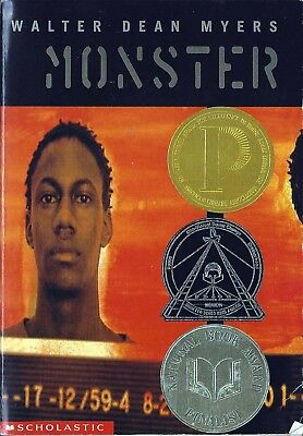 Monster By Walter Dean Myers - Scholastic Book National Book Award Finalist PB