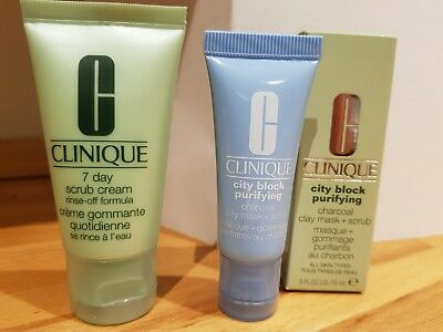 Clinique city block purifying 15 ml and 7 day scrub 30ml new and unused