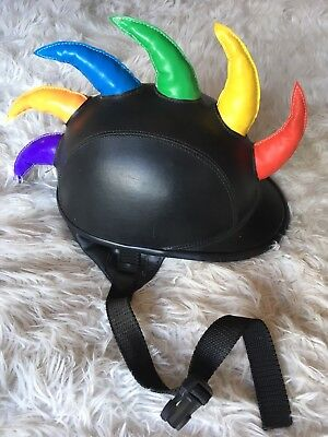 Novelty Horned Riding Hat! Approx size 7 1/2.