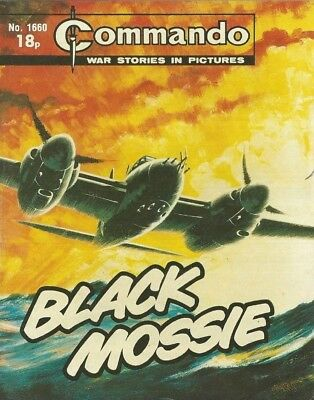 Black Mossie,commando War Stories In Pictures,no.1660,war Comic,1982