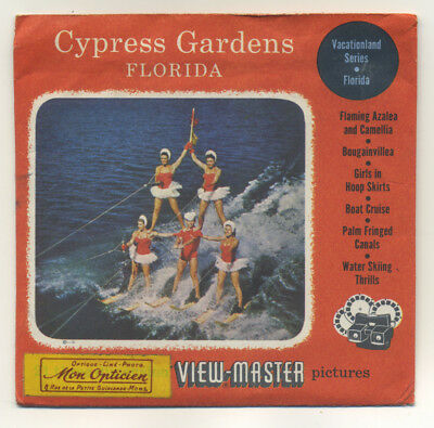 Cypress Gardens Florida 1955 ViewMaster Packet with Reels 164-ABC