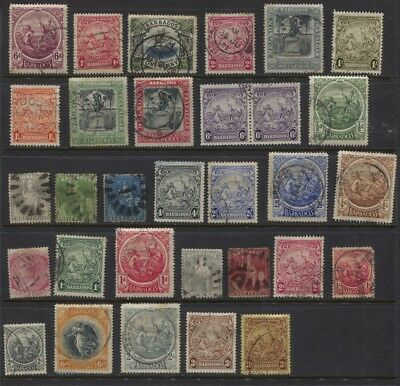 Barbados 1861 - 1947 Used Selection Incl #130, 147 - CV $100 + Britannia Issues