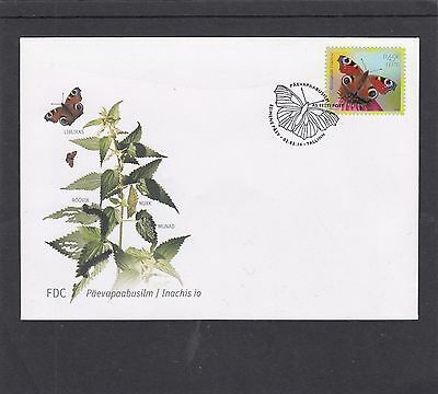 Estonia 2014 European Peacock Butterfly First Day Cover FDC Tallin special h/s