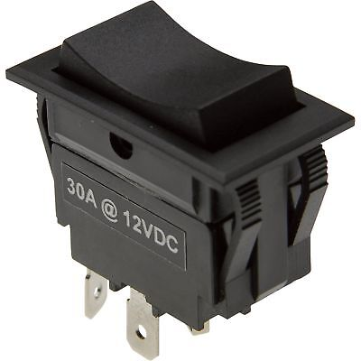 Rocker Reversing Switch -30 Amp Momentary Contacts, # SWT-ROC-MOM-4W