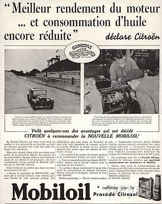 1937 Ad Gargoyle Mobiloil Automobile Oil Refined by Process Clirosol