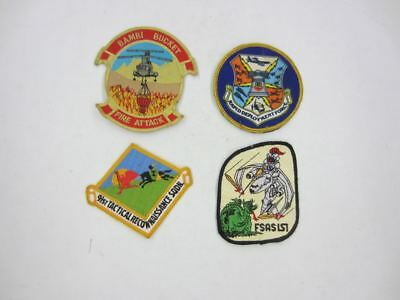 9 Vintage USAF Patch Lot Bambi Bucket Fire Attack,Rapid Deployment,91st,FSAS 1st