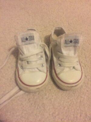 Converse Boys Girls Toddlers Shoes Trainers Size 5 EU21 White