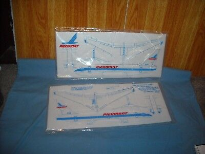 PIEDMONT AIRLINES Lot of 2 Vintage Styrofoam Airplanes Sealed  Planes