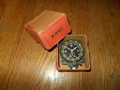 WW2 German Luftwaffe Junghans Cockpit Clock Fl.23885 - 4th Model - BOXED!
