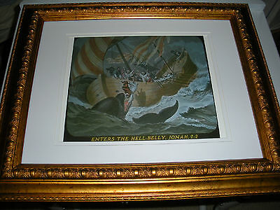 """C.T. Russell PHOTO-DRAMA OF CREATION photo """"Jonah and Whale"""" Watchtower IBSA"""